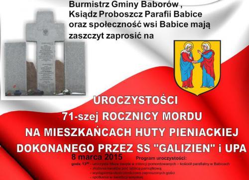 Galeria Uroczystości w Babicach 8.03.2015