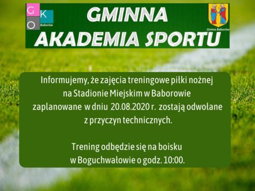 Zajęcia treningowe piłki zaplanowane w.png